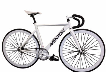 Aventon Mataro Fixed Gear Track Bike in White