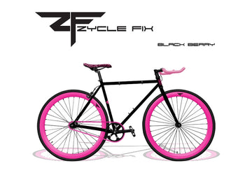 Zycle Fix Fixed Gear Bike Black Berry Pursuit Fixie