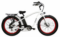 E-lux Tahoe Step Over Electric Fat Tire Bike White