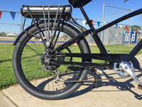 E-lux Newport Step Thru Electric Beach Cruiser Bike Black