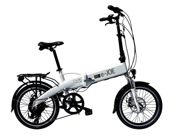 E-JOE Bicycles EPIK SE 2018 Folding Electric Bike FROSTY WHITE