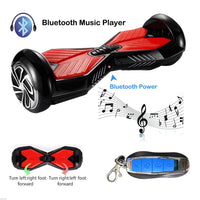 Smart Self-Balance Scooter Hoverboard w/ Bluetooth and w/ Remote Blue Red