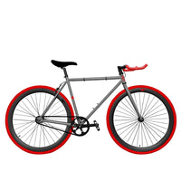 Zycle Fix Fixed Gear Bike Hot Charcoal Pursuit Fixie