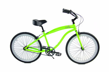Loco Fixie FG Cruiser 700c The Mucho Loco Neon Green frame with White Deep-V rims