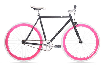 Nebula-3 6KU Matt Black Best Custom Fixie with Magenta Rims