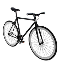 Zycle Fix Fixed Gear Bike Raider Matte Black  Fixie with Grey Rims