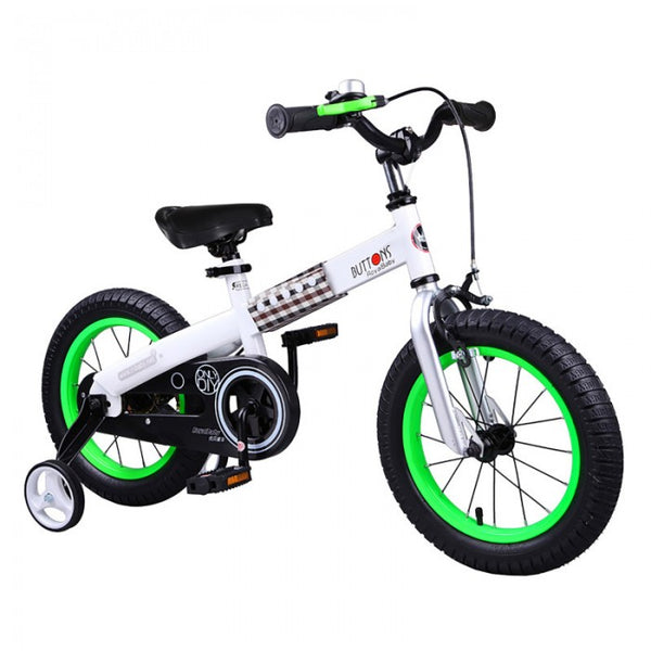RoyalBaby Buttons Green 14 inch Kids Bicycle