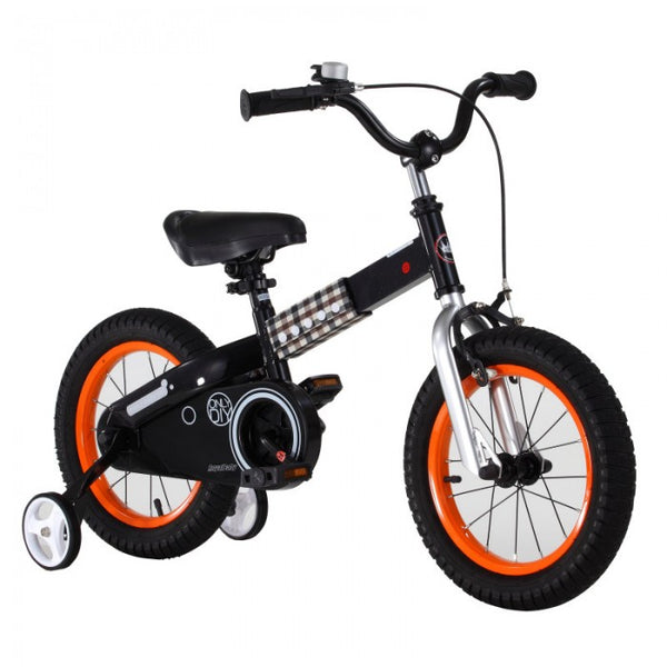 RoyalBaby Buttons Black 14 inch Kids Bicycle