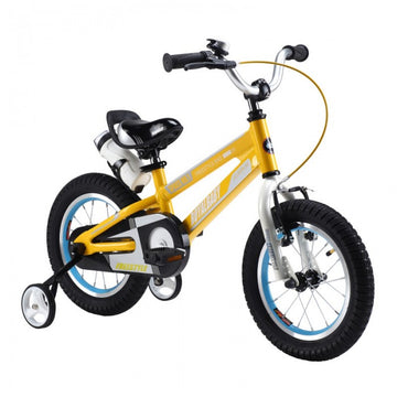 RoyalBaby Space No. 1 Yellow 14 inch Kids Bicycle