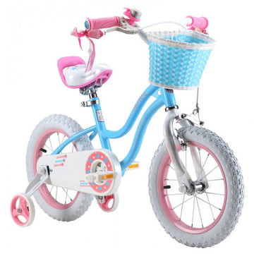 RoyalBaby Stargirl Blue 14 inch Kids Bicycle