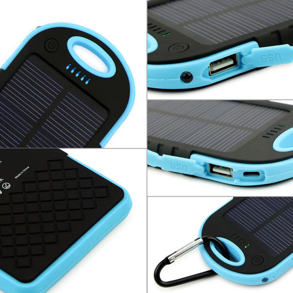 FREE 16000mAh Portable Waterproof Solar Charger Dual USB External Battery Power Bank