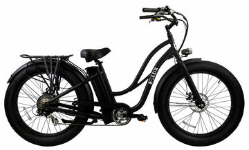 E-lux Tahoe Step Thru Electric Fat Tire Bike Matte Black