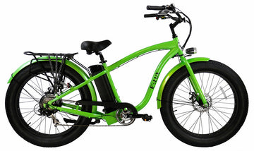 E-lux Tahoe Step Over Electric Fat Tire Bike Green