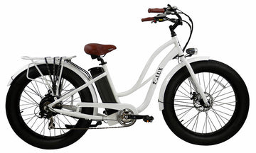 E-lux Tahoe Step Thru Electric Fat Tire Bike White