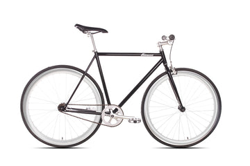 The New York 6KU Fixie Bike in Glossy Black with Polish Chrome Deep V Rims
