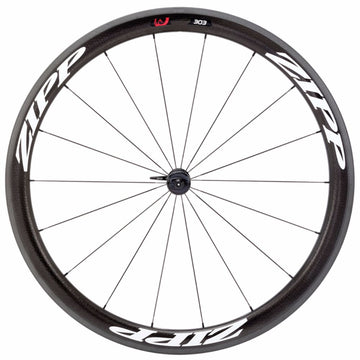 Zipp 303 Firecrest CC Front White - White Decals - 18 Spokes - Model Year 2014
