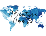 Adventure Awaits Blue Watercolor Map Printable