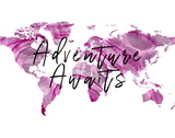 Adventure Awaits Pink Watercolor Map Printable