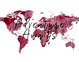 Adventure Awaits Red Watercolor Map Printable