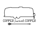 Printable Airstream Outline Camper Sweet Camper Wall Art