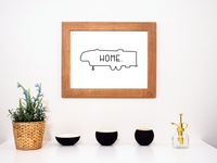 My Fifth Wheel Is Home Printable Wall Decor