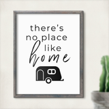 There's No Place Like Home Printable RV Decor