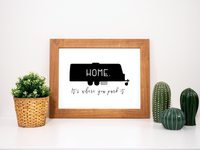 Travel Trailer Home It's Where You Park It Printable
