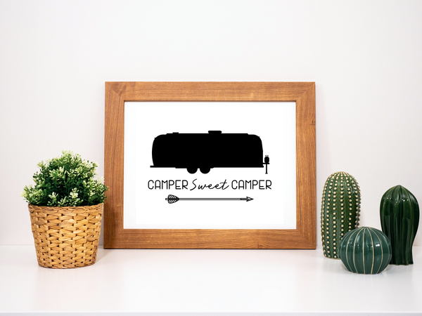Printable Airstream Camper Sweet Camper Wall Art