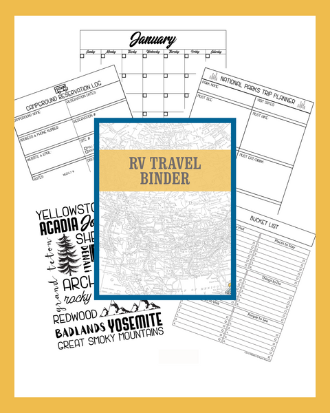 RV Travel Binder - 35+ Pages