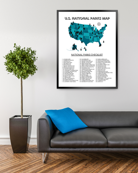 Printable U.S. National Parks Map