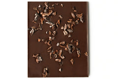 Abstract Chocolate Science with roasted cacao nibs