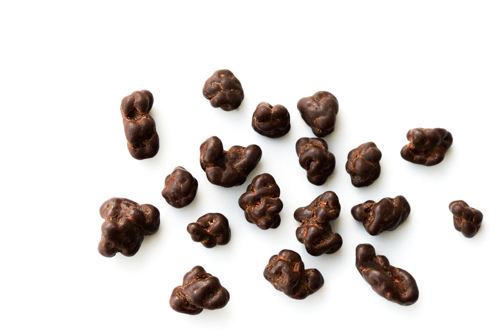 roasted Cacao Nibs tumbled in Dark chocolate