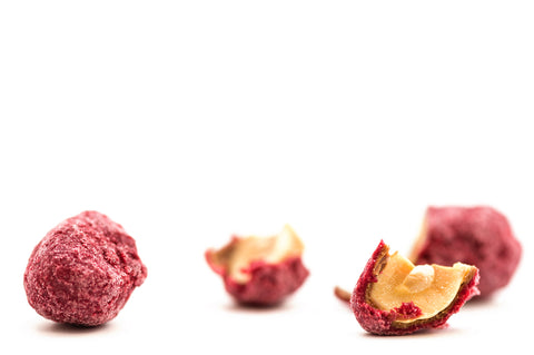 Roasted Peanuts tumbled in Raspberries and chocolate