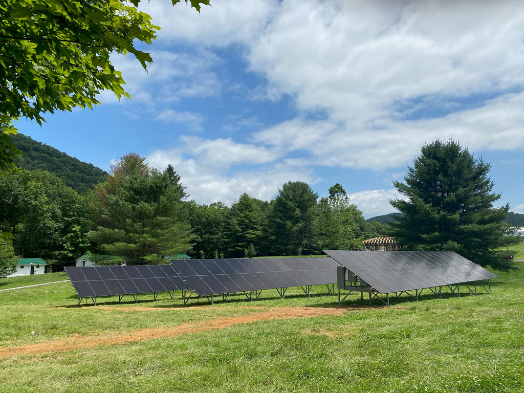 New Solar Panels at the Camp
