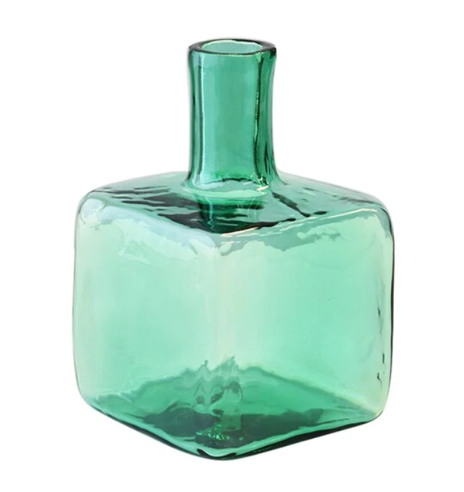 Blenko Glass Block Bud Vase