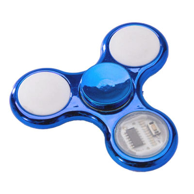 Hand Spinner Brillant à Led Bleu