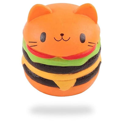 Balle Anti-Stress Squishy Chat Hamburger | Anti Stresss