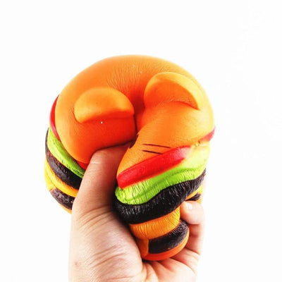 Balle Anti Stress / Squishy Chat Hamburger - anti stress