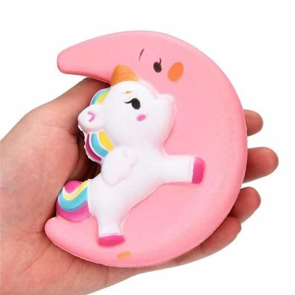 Balle Anti-Stress Squishy Licorne Lune | Anti Stresss
