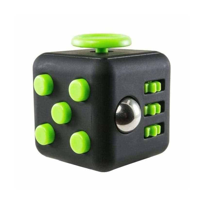 Fidget Cube Black Green - Object anti stress