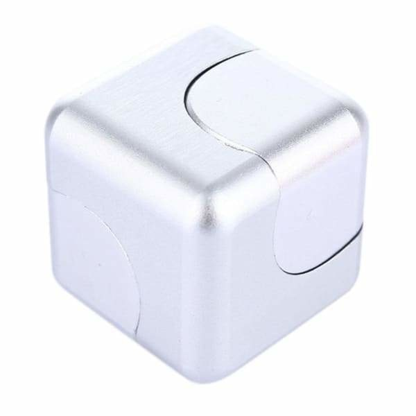 Fidget Cube Spinner Argent - Object anti stress