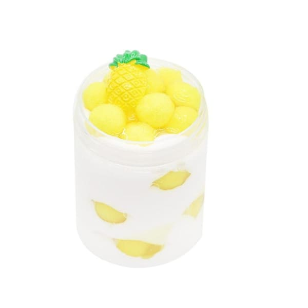 Fluffy Slime Ananas - 120ml - Object anti stress