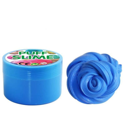 Fluffy Slime Bleu - Object anti stress
