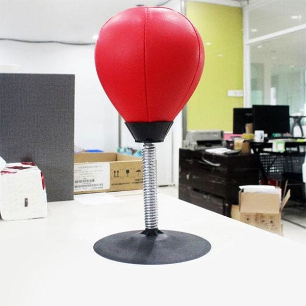 Jeux Anti-Stress / Punching Ball de Bureau - Rouge - Anti
