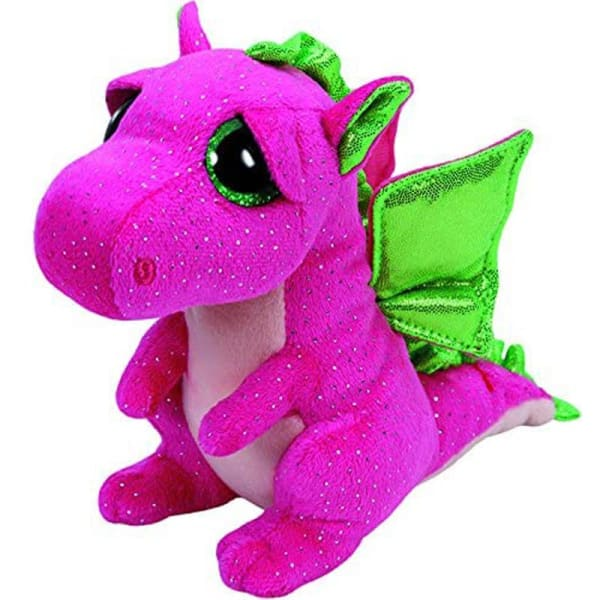 Peluche aux Gros Yeux Dragon Rose - Peluches
