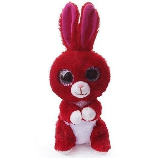 Peluche aux Gros Yeux Lapin Rouge - Peluches