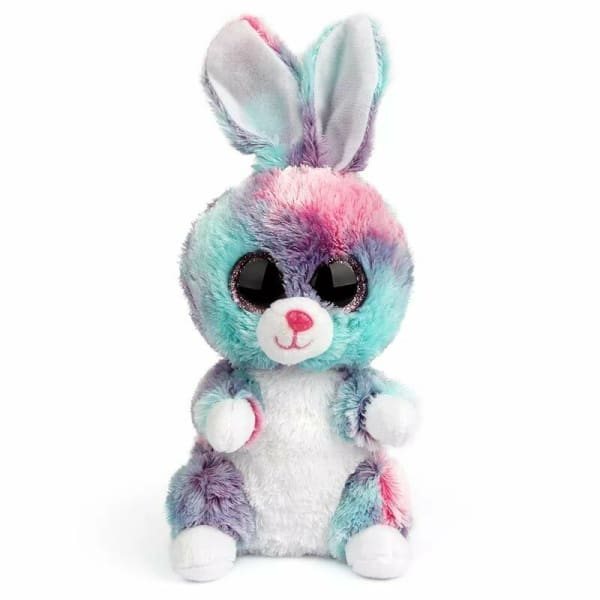 Peluche Gros Yeux Lapin Multicolore - Peluches