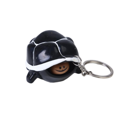 Squishy Porte Clé Tortue - Noir - Balle anti stress