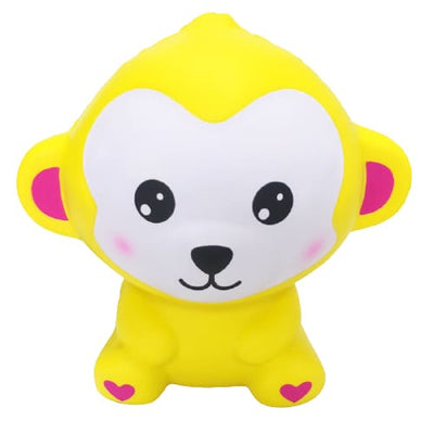 Squishy Singe - Jaune - Balle anti stress