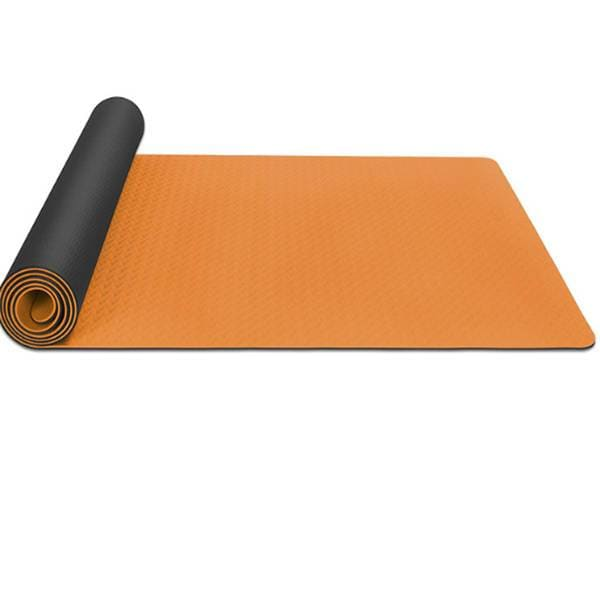 Tapis de Yoga Orange et Noir 6 mm